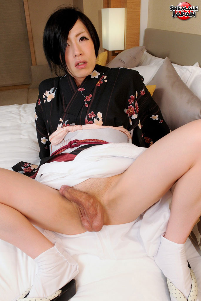 Japanese shemale with banana cock